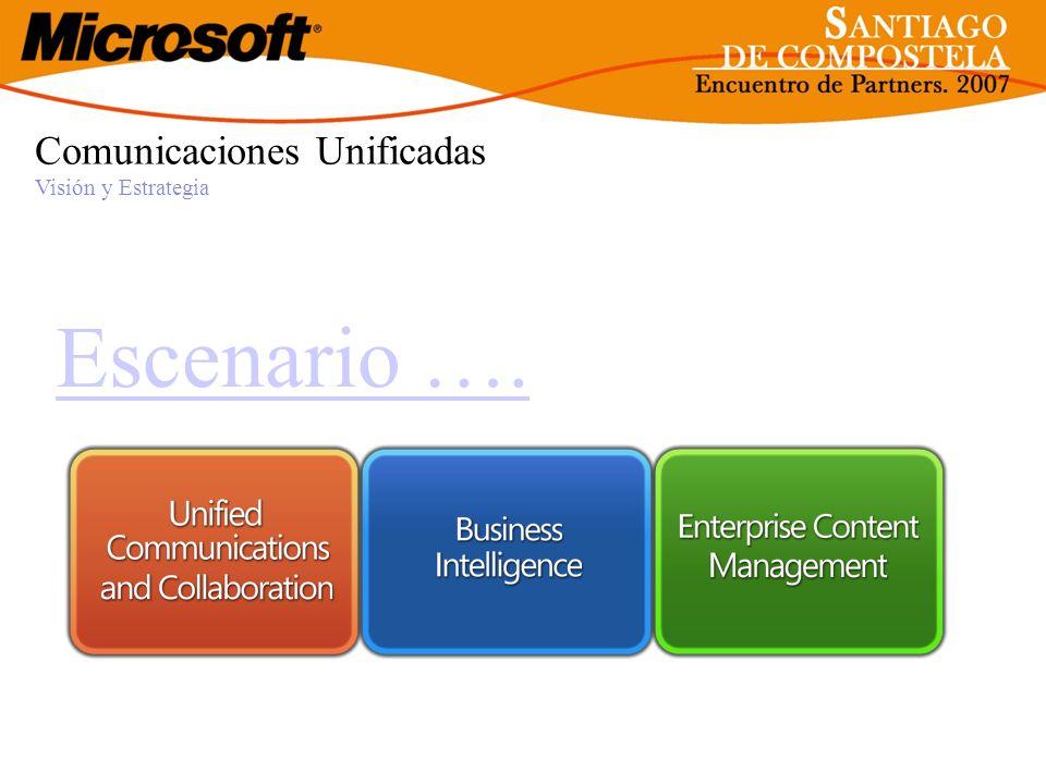 Comunicaciones Unificadas Visión y Estrategia Escenario ….