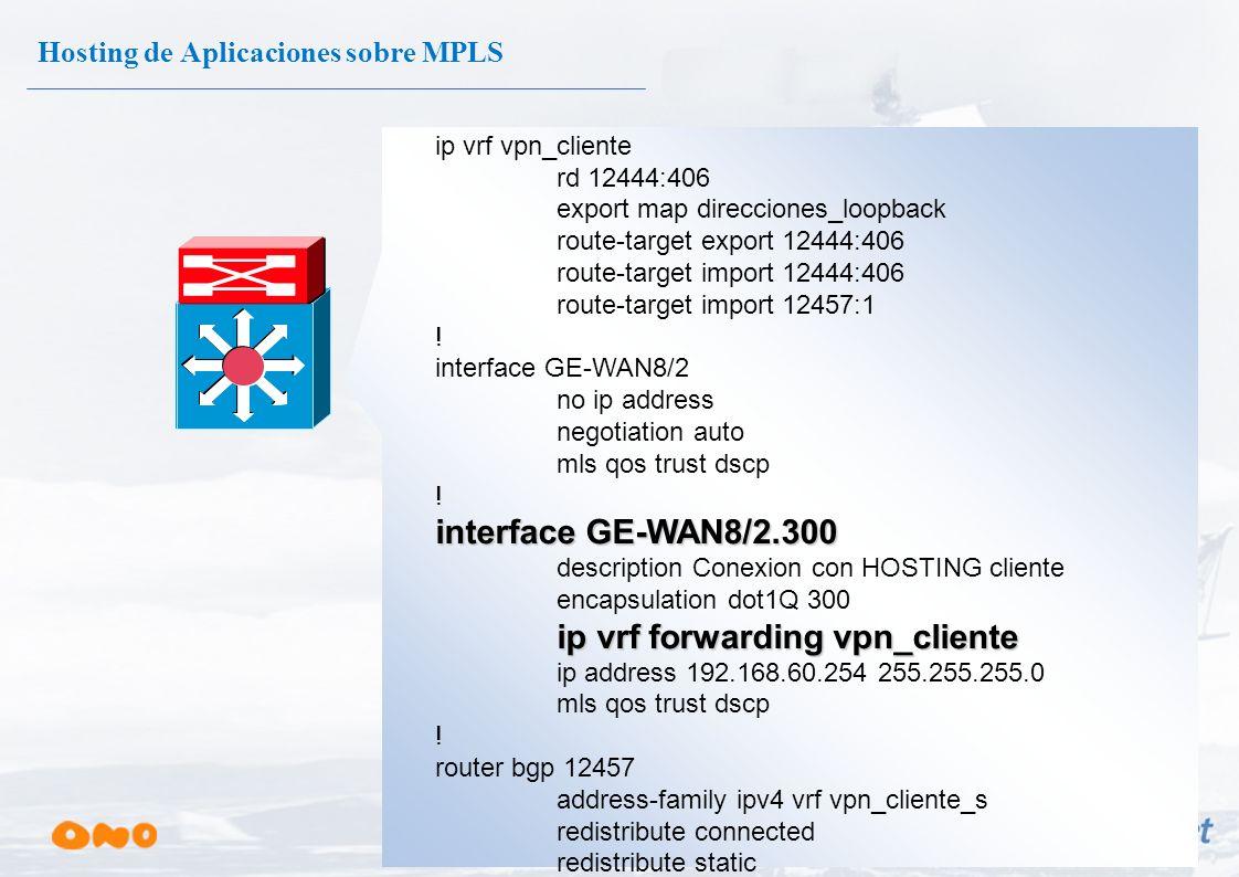 Servidores de Aplicaciones Internas (INTRANET) Servidor Correo Microsoft ISA Server Hosting de Aplicaciones sobre MPLS Sede Central VPN Delegación 1 D