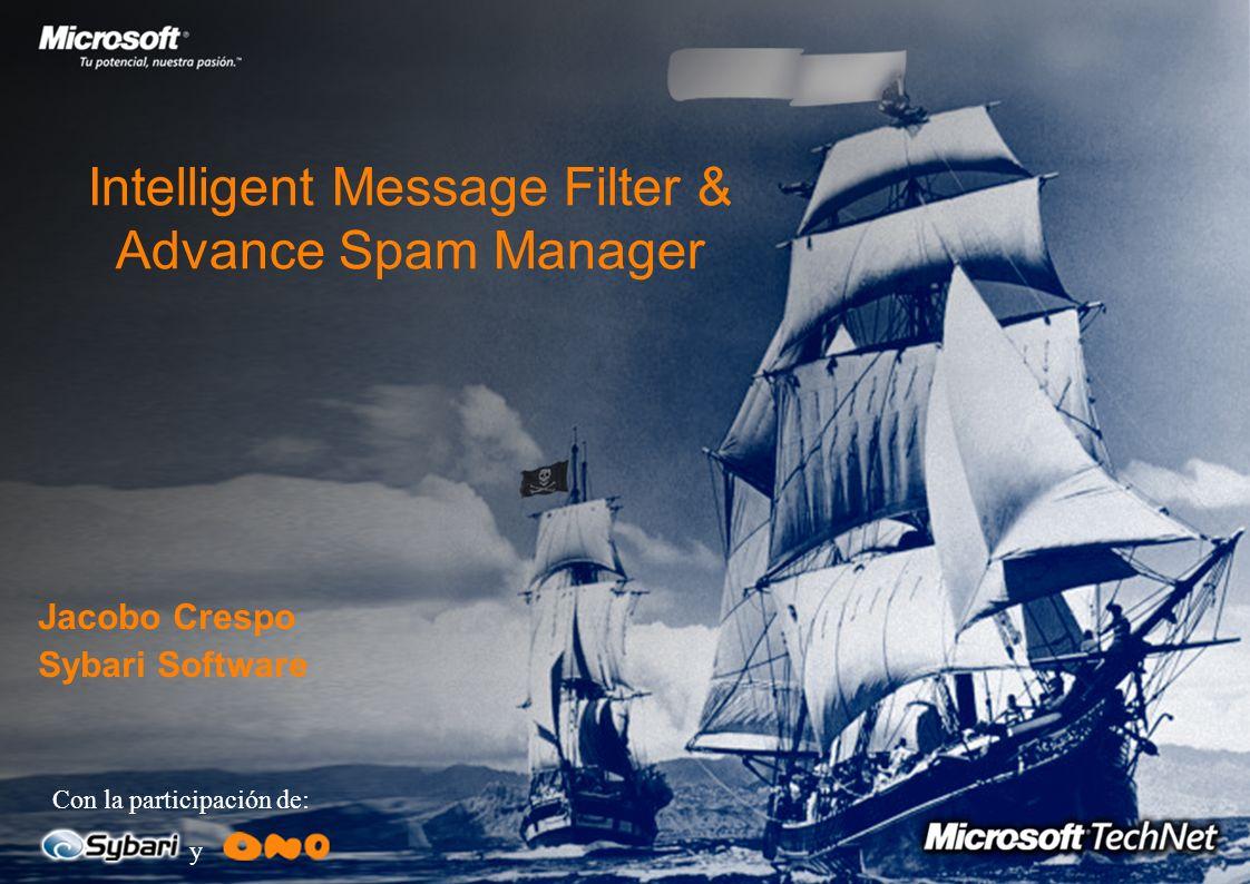 Soluciones Exchange 2003 1.Filtros Junk e-mail en Cliente Opciones de Outlook 2003 El cliente tiene la opción de configurar los correos nocivos El Ser