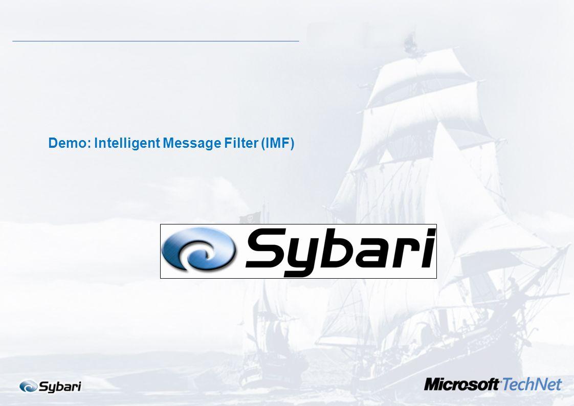 1.IMF evalúa el contenido de los mensajes en busca de modelos reconocibles y les asigna una clasificación basada en la probabilidad de que el mensaje