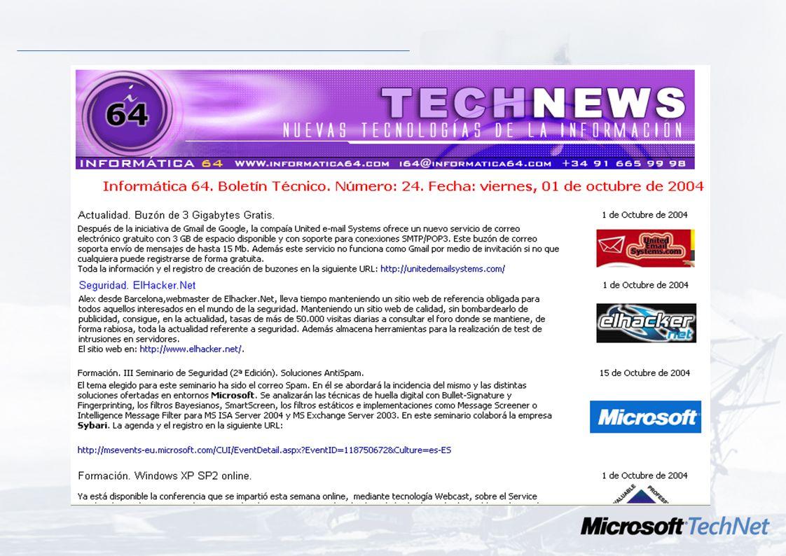 Contacto local CDROM, S.A. –Servicios de Sistemas y Telec. –Microsoft Certified Partner –Area de Seguridad de los S.I. www.cdromsa.es Jose Luis Yago (