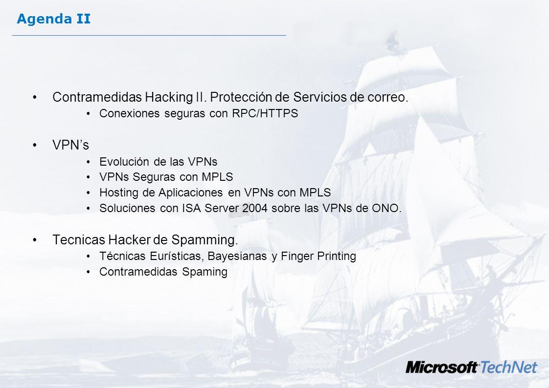 Agenda II Contramedidas Hacking II.Protección de Servicios de correo.