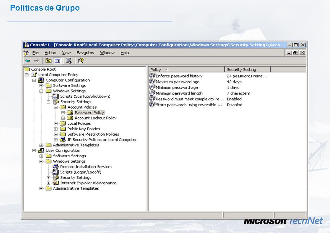 IPSec - Despliegue GPO Despliegue centralizado desde el Directorio Activo. Configuración posible mediante plantillas. Domain OU Site GPO