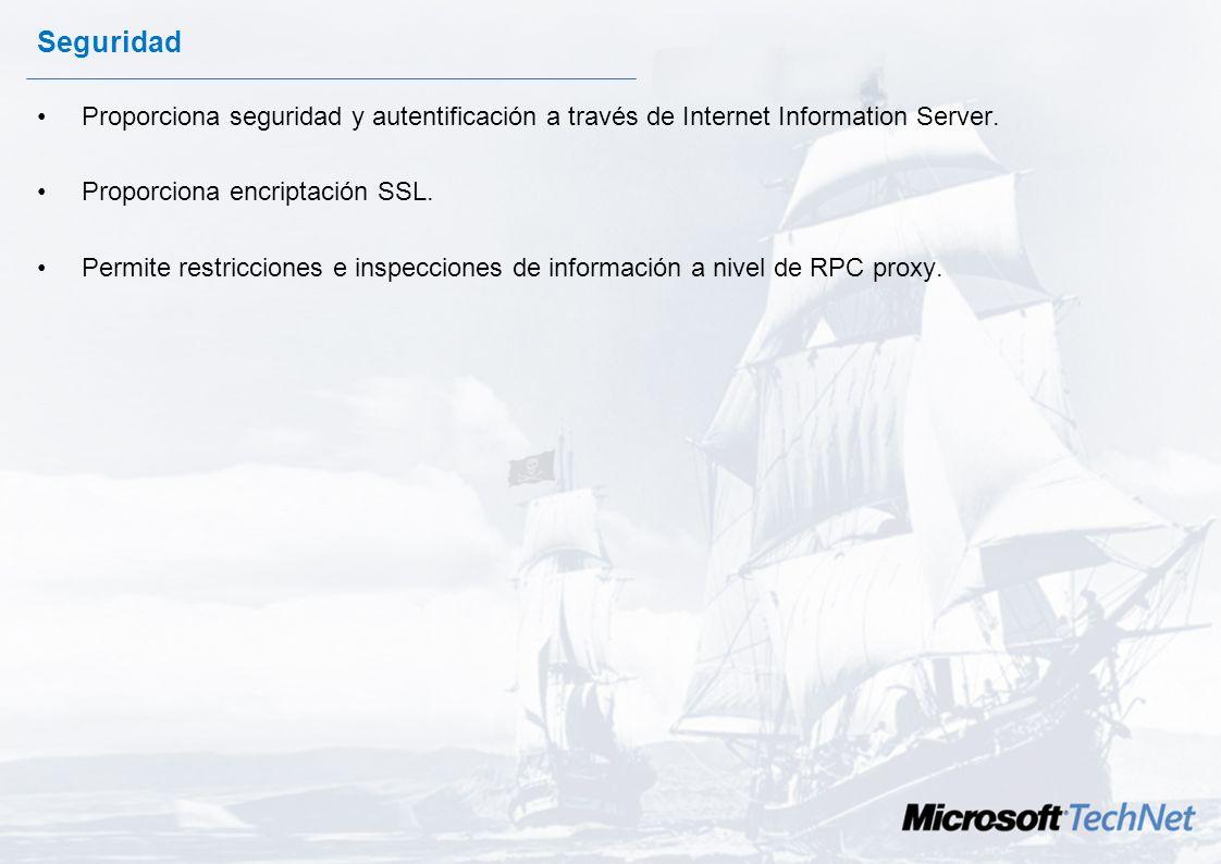 RPC Sobre HTTP Las llamadas a procedimiento remoto son una de las metodologías de comunicaciones entre máquinas. Outlook 2003 se conecta a Exchange 20