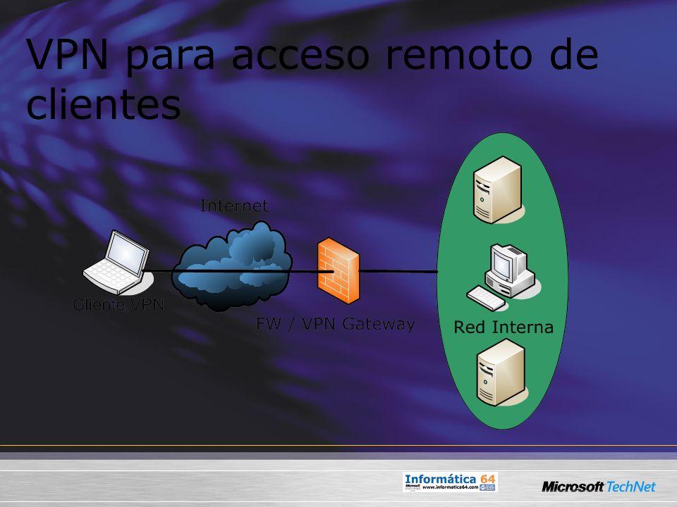 VPN para acceso remoto de clientes