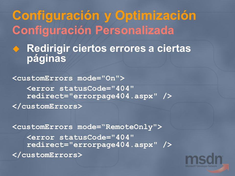 Configuración y Optimización Configuración Personalizada Redirigir ciertos errores a ciertas páginas