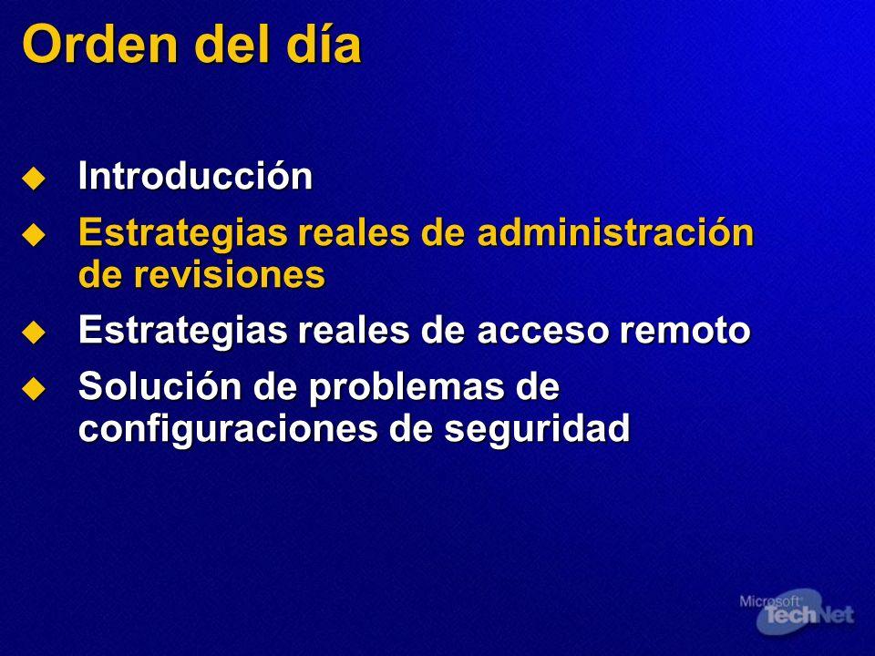 Orden del día Introducción Introducción Estrategias reales de administración de revisiones Estrategias reales de administración de revisiones Estrateg