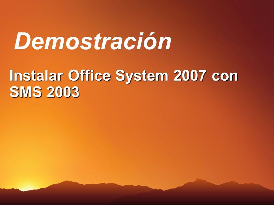 Instalar Office System 2007 con SMS 2003 Demostración