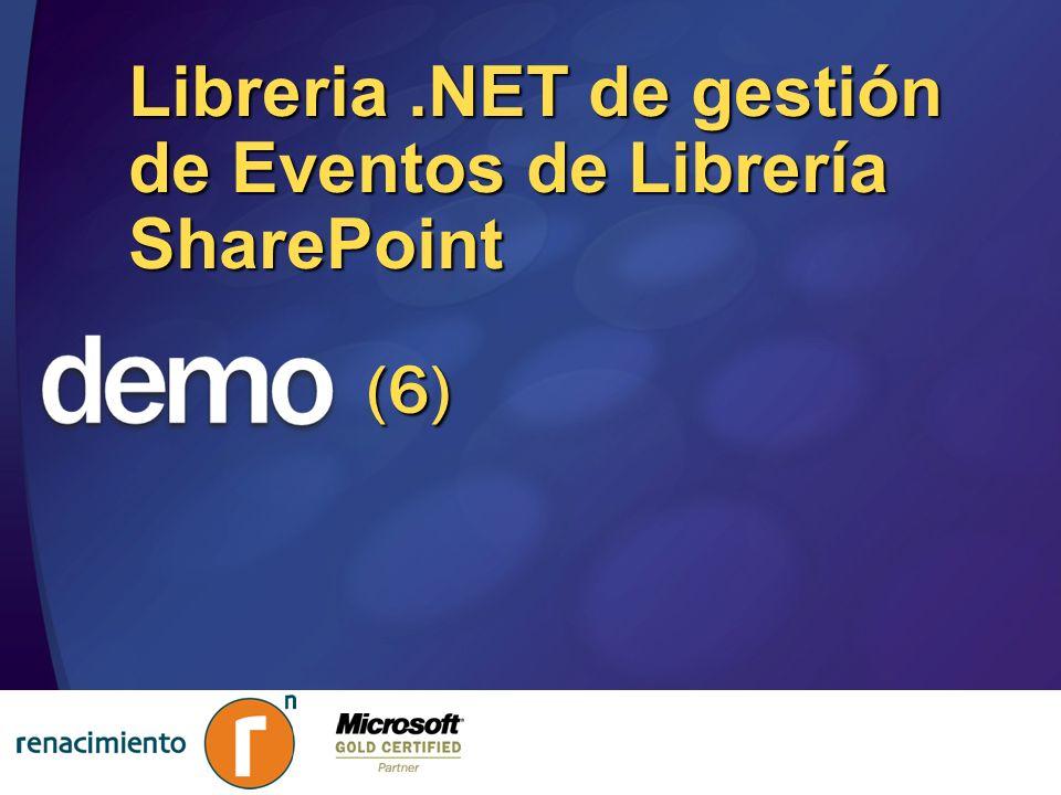 Libreria.NET de gestión de Eventos de Librería SharePoint (6)