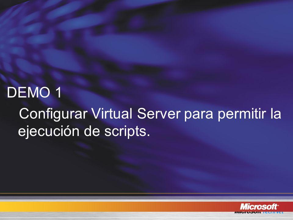 Scripting en Virtual Server 2005 R2. DEMO 6 -PowerShell.