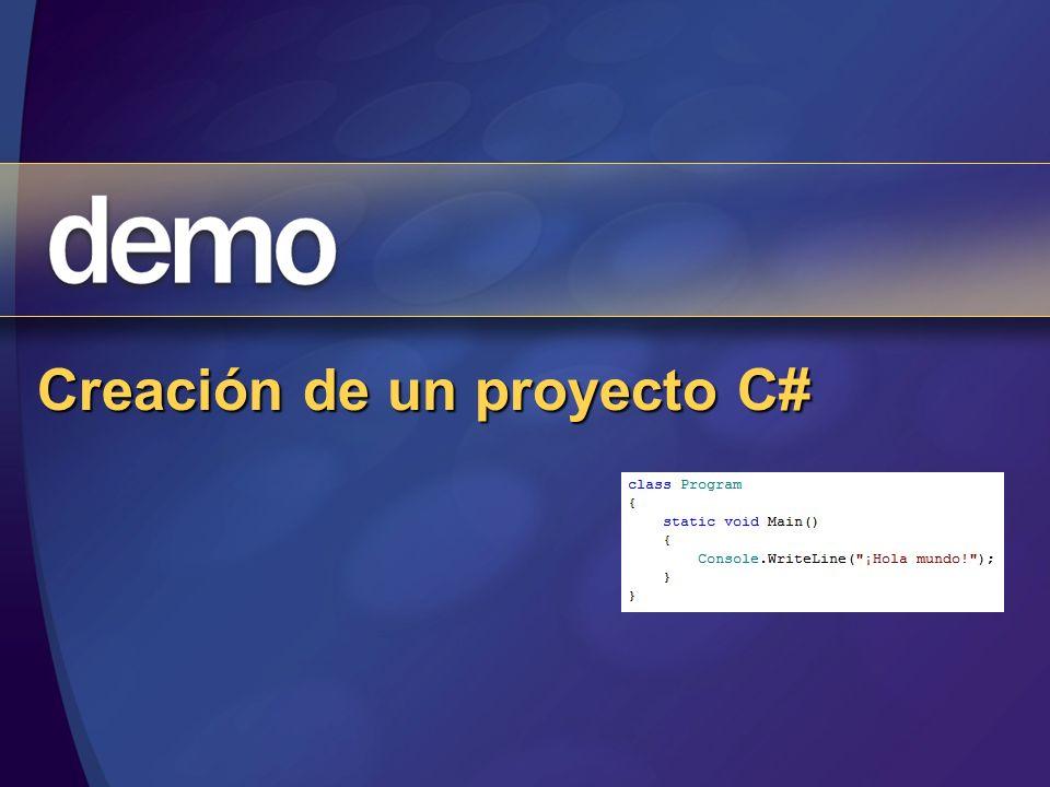 Creación de un proyecto C#
