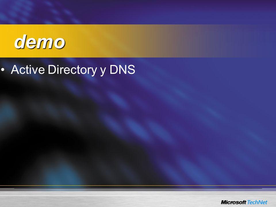 demo demo Active Directory y DNS