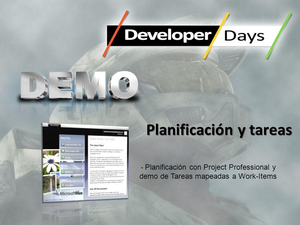Planificación y tareas - Planificación con Project Professional y demo de Tareas mapeadas a Work-Items