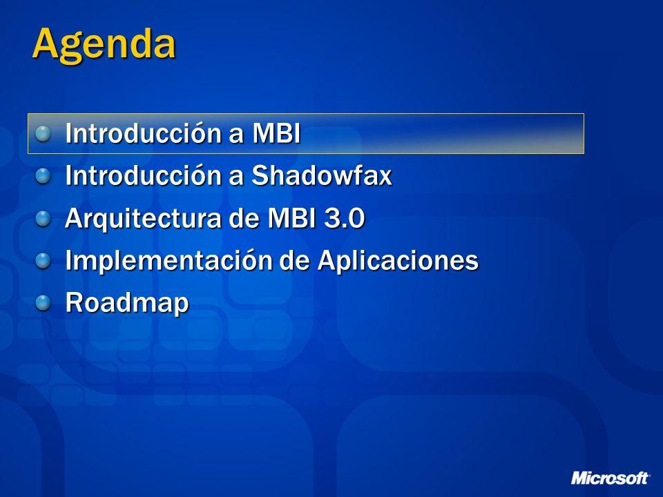 Resumen MBI 3.0 Mejor implementación sobre Shadowfax Con un ojo puesto en las tecnologías emergentes y tendencias del mercado Permite una evolución gradual entre ambas Arq.