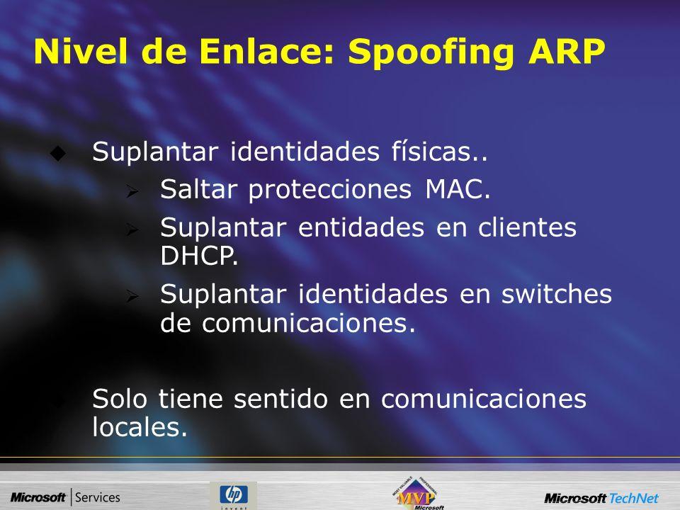 Sniffing + Spoofing Hijacking (secuestro) Y Envenenamiento Técnicas Combinadas