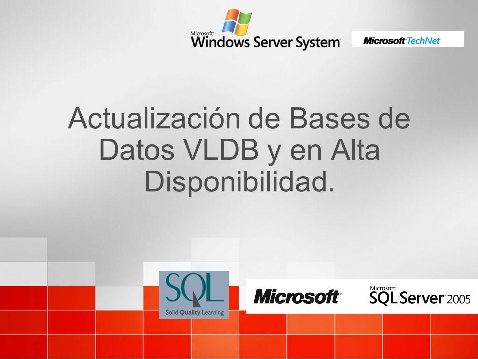 Actualización de Bases de Datos VLDB y en Alta Disponibilidad.