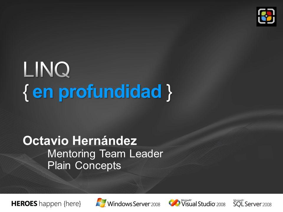 Introducción a LINQ Proveedores predeterminados Extendiendo LINQ a nuevos tipos de datos y librerías Recomendaciones de uso LINQ después de.NET 3.5 Demos
