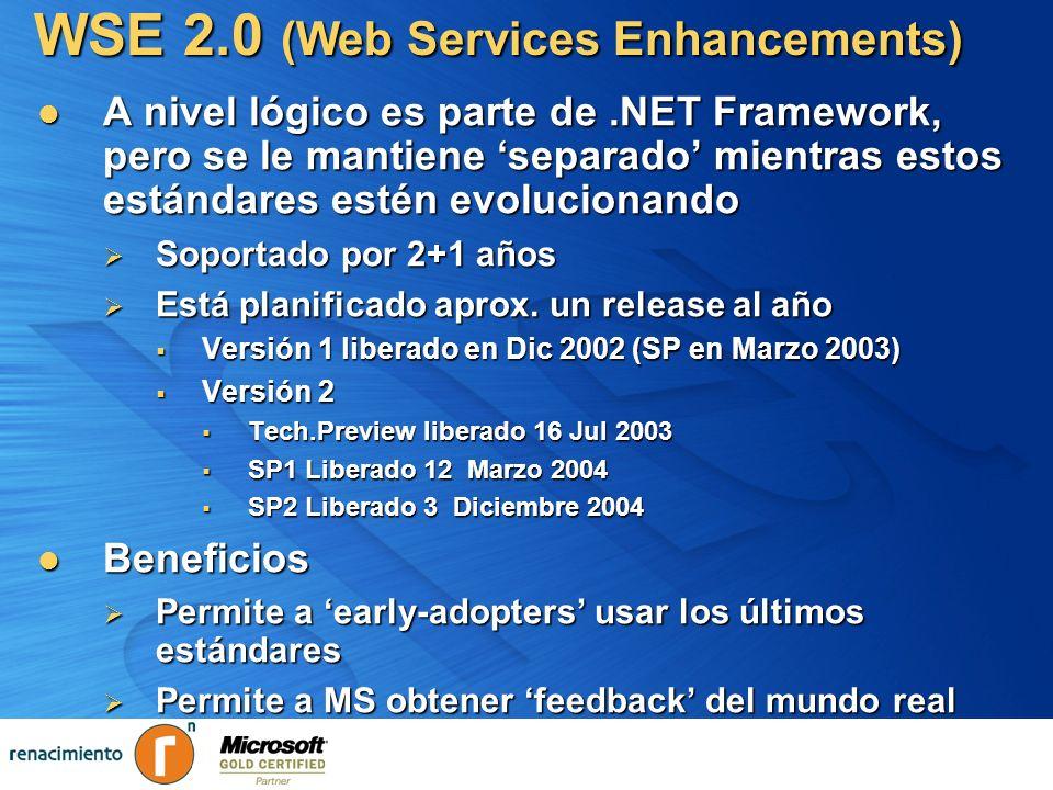 A nivel lógico es parte de.NET Framework, pero se le mantiene separado mientras estos estándares estén evolucionando A nivel lógico es parte de.NET Fr