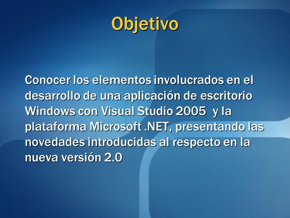 Temario (2/2) Configuración Diálogos comunes Enlace a datos Colecciones Colecciones Objeto BindingSource Objeto BindingSource ADO.NET ADO.NET Distribución de la aplicación Referencias