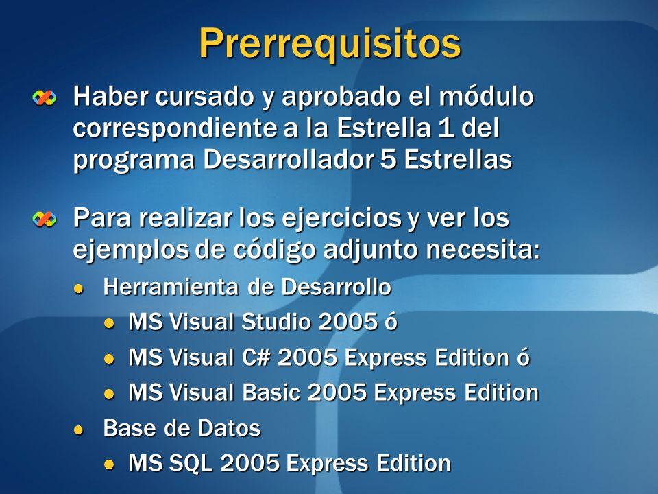 Generalidades (2/2) Otras propiedades requieren la asignación de objetos Ejemplo en C# Ejemplo en C# miForm.Size = new Size(100, 100); miForm.Location = new Location(0, 0); Ejemplo en Visual Basic Ejemplo en Visual Basic miForm.Size = New Size(100, 100) miForm.Location = New Location(0, 0)