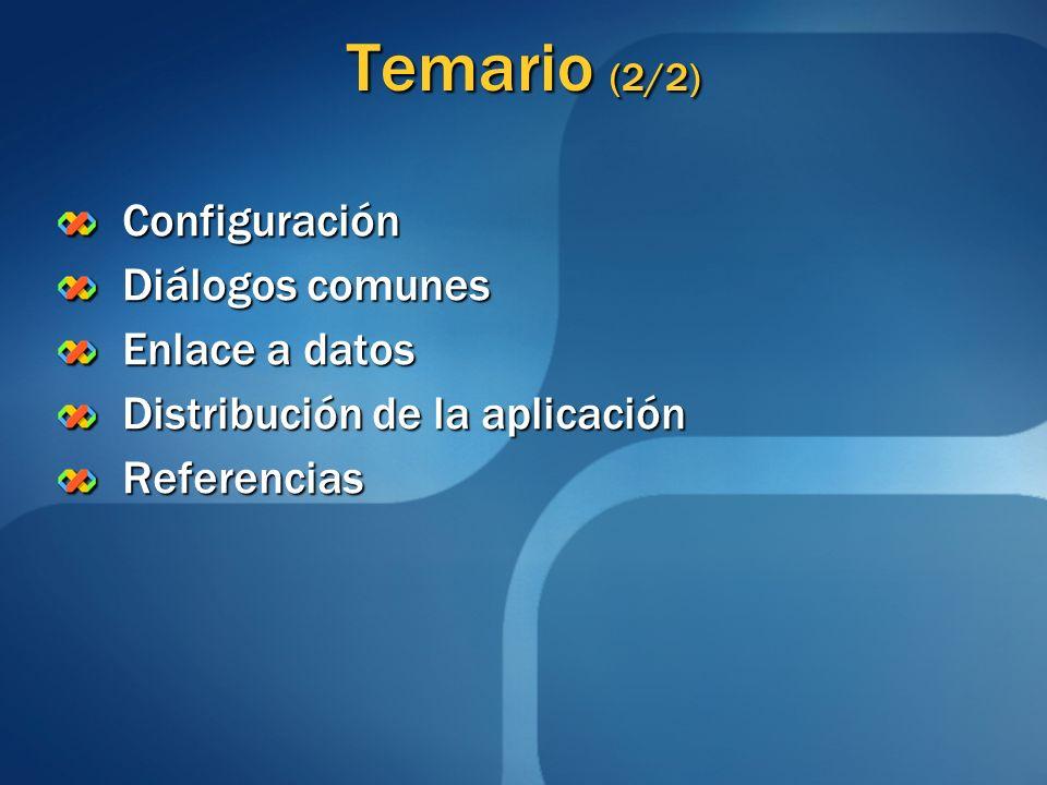 Temario (1/2) Introducción a Windows Forms ¿ Qué es Windows Forms .