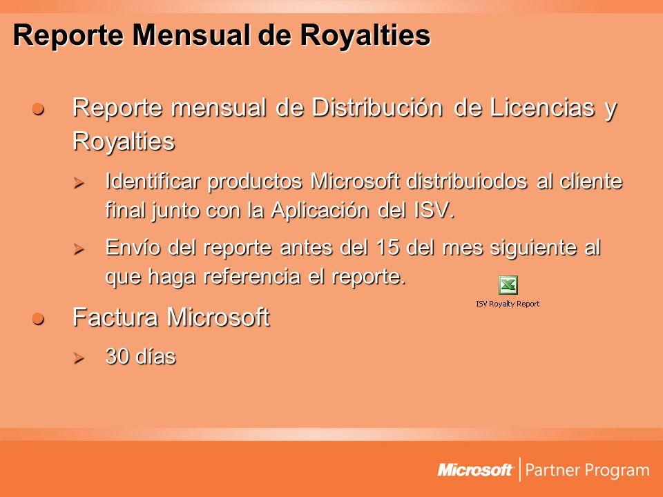 Reporte Mensual de Royalties Reporte mensual de Distribución de Licencias y Royalties Reporte mensual de Distribución de Licencias y Royalties Identif