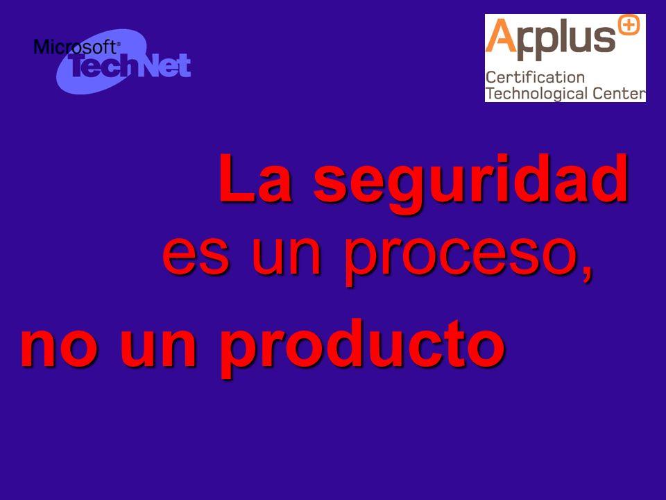 8721-27-0405-WEBCAST JUL-004 © APPLUS+ CTC es un proceso, La seguridad no un producto