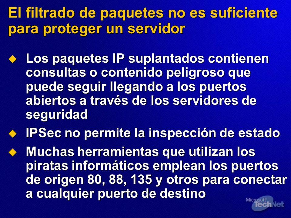 Los paquetes IP suplantados contienen consultas o contenido peligroso que puede seguir llegando a los puertos abiertos a través de los servidores de s