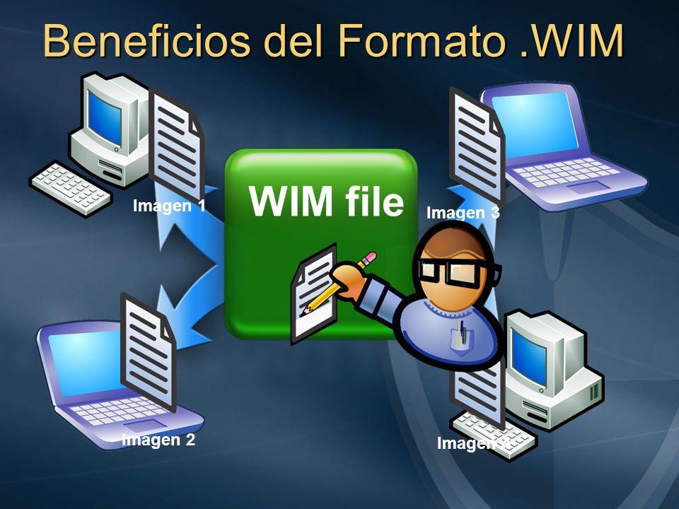 Beneficios del Formato.WIM WIM file Imagen 1 Imagen 4 Imagen 3 Imagen 2