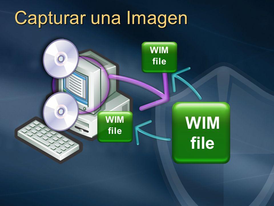 Capturar una Imagen WIM file