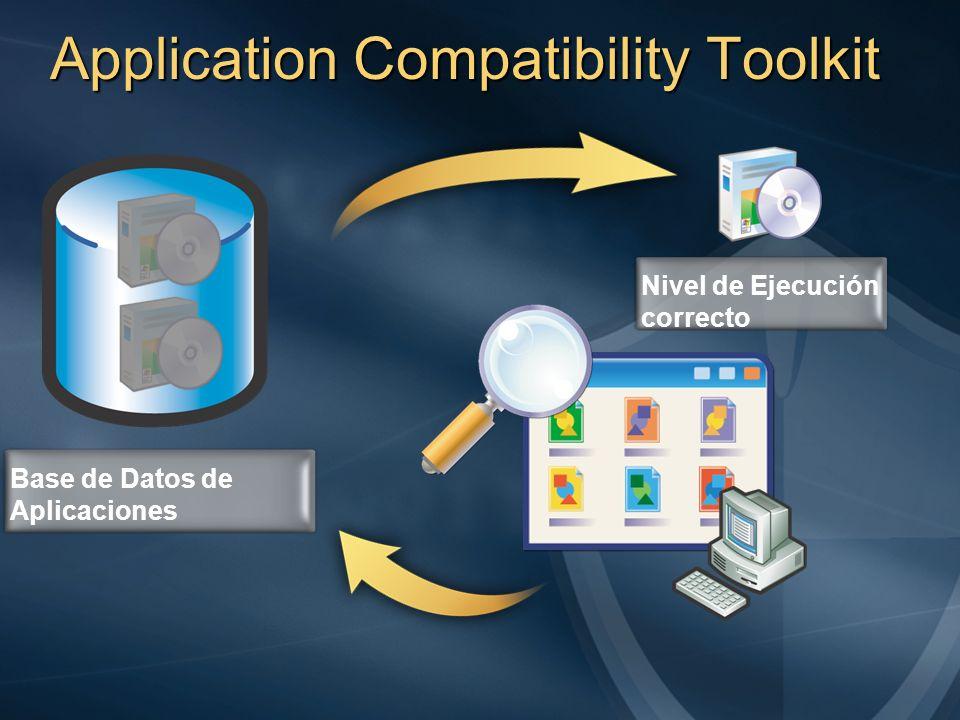 Application Compatibility Toolkit Base de Datos de Aplicaciones Nivel de Ejecución correcto