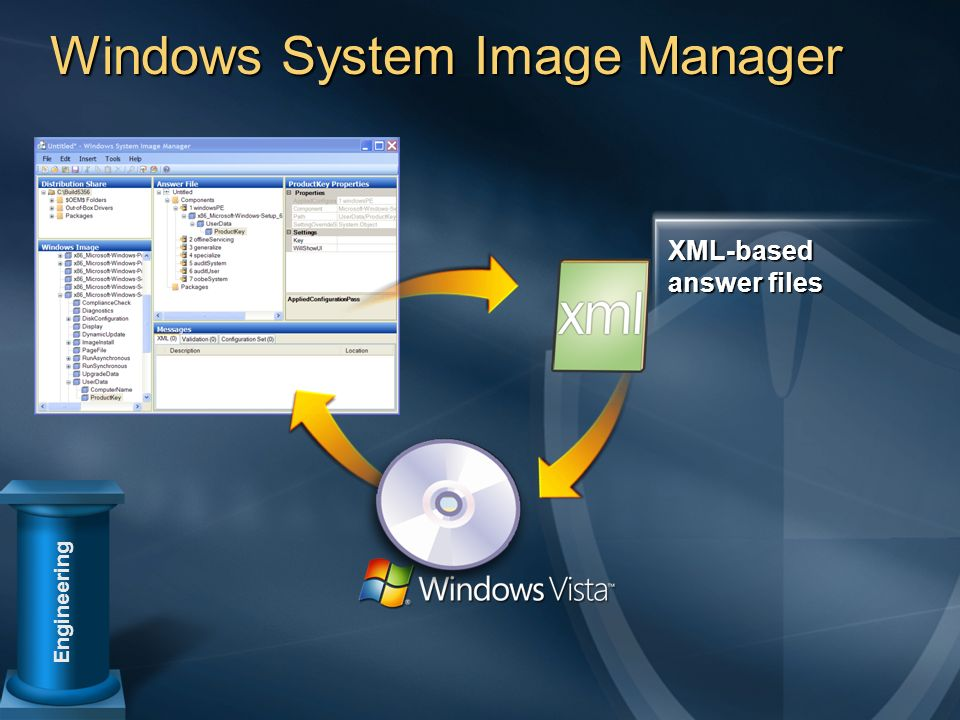 Windows System Image Manager Engineering XML-based answer files