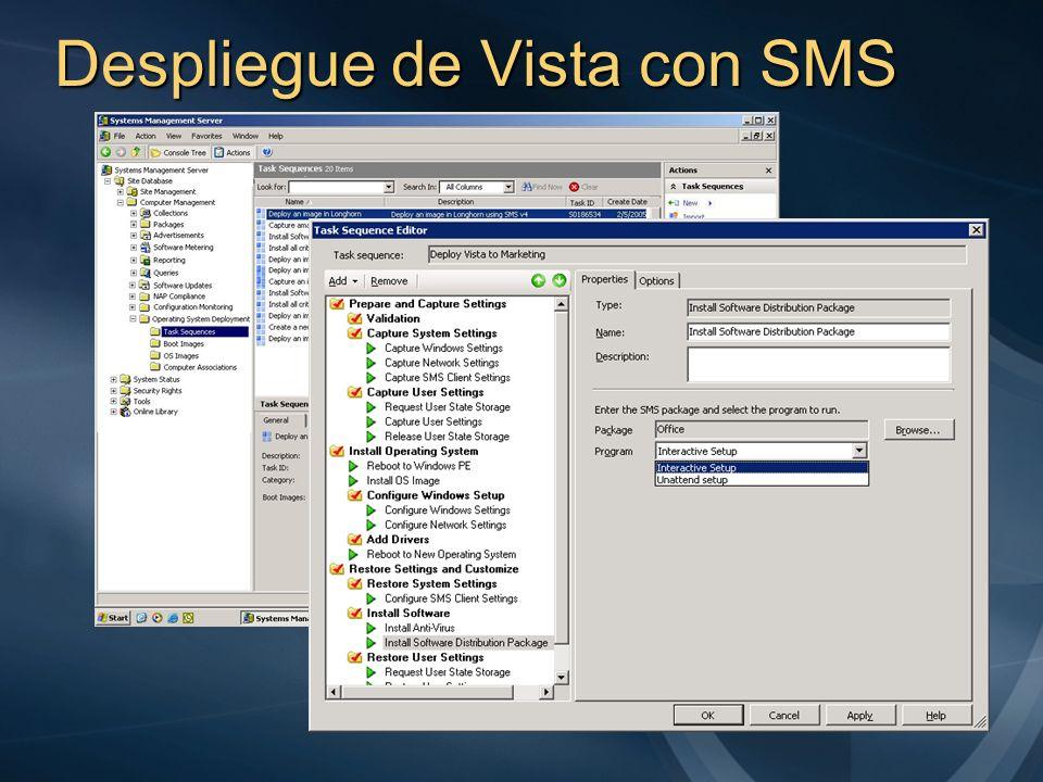 Despliegue de Vista con SMS