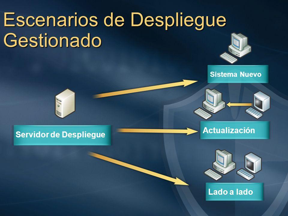 Escenarios de Despliegue Gestionado Servidor de Despliegue Sistema Nuevo ActualizaciónLado a lado
