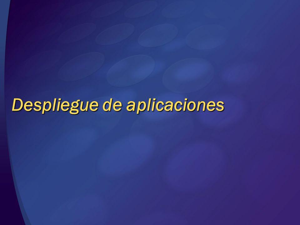 Despliegue de aplicaciones