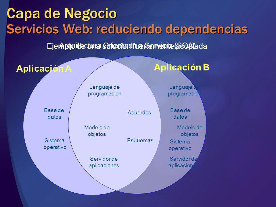 Esquemas Acuerdos Lenguaje de programacion Modelo de objetos Servidor de aplicaciones Base de datos Sistema operativo Base de datos Sistema operativo