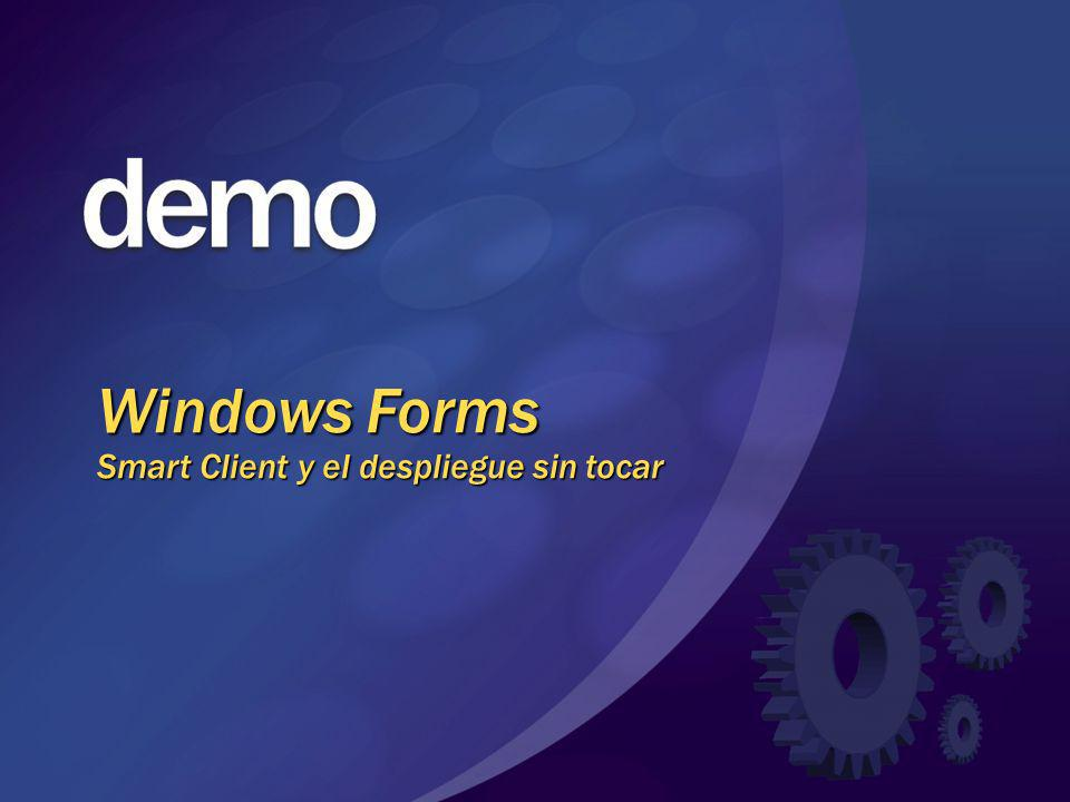 Windows Forms Smart Client y el despliegue sin tocar