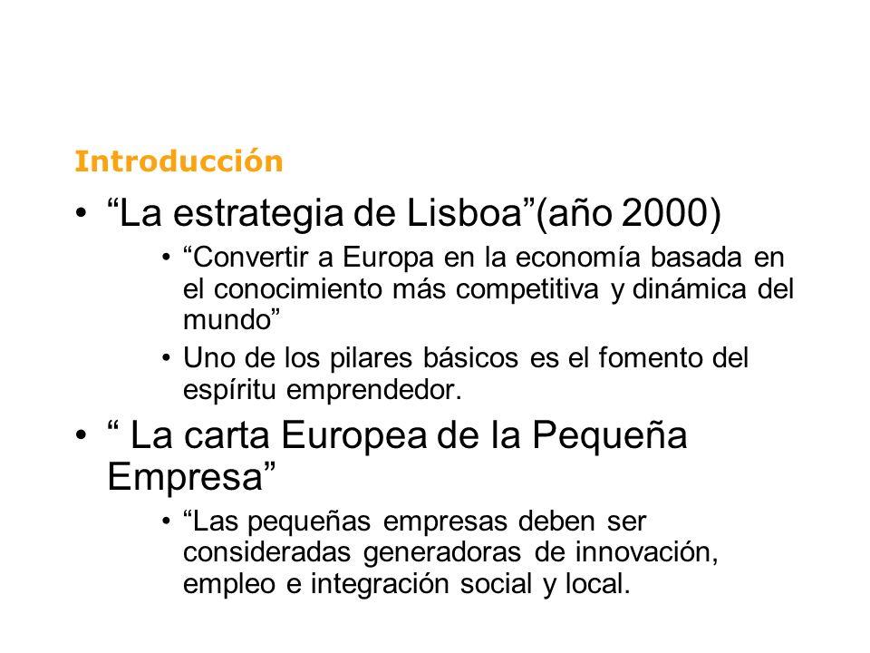 La estrategia de Lisboa(año 2000) Convertir a Europa en la economía basada en el conocimiento más competitiva y dinámica del mundo Uno de los pilares