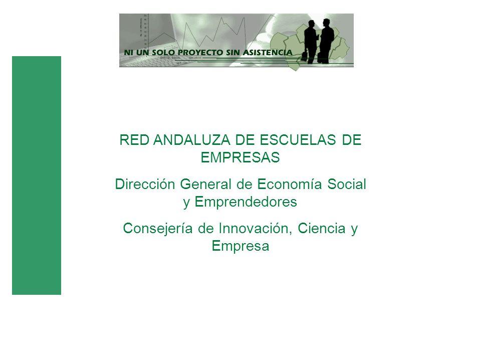 RED ANDALUZA DE ESCUELAS DE EMPRESAS Dirección General de Economía Social y Emprendedores Consejería de Innovación, Ciencia y Empresa