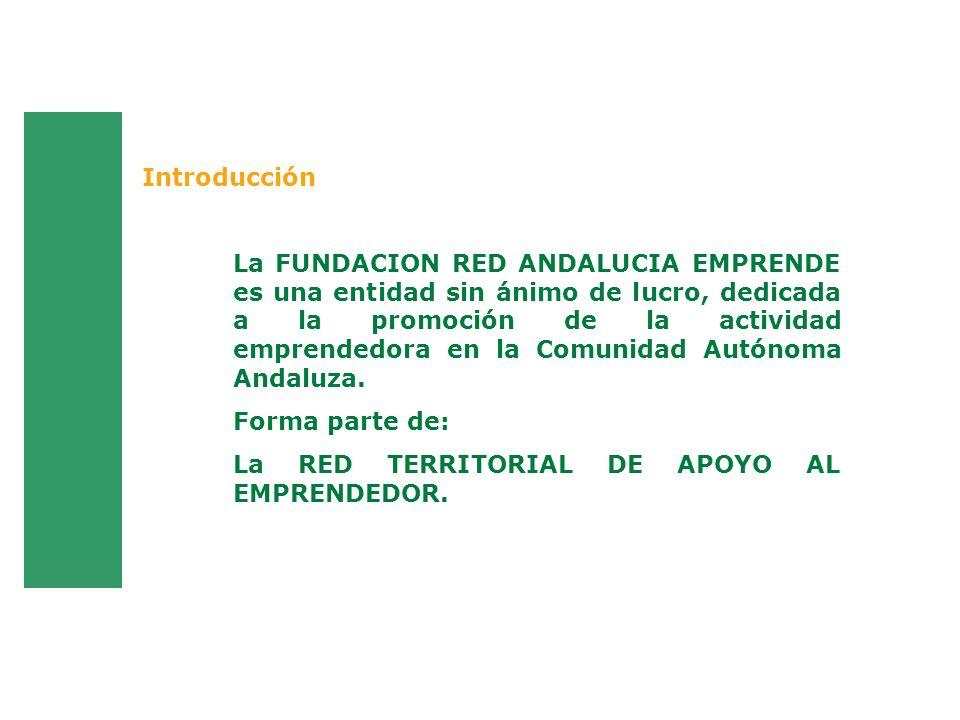 La FUNDACION RED ANDALUCIA EMPRENDE es una entidad sin ánimo de lucro, dedicada a la promoción de la actividad emprendedora en la Comunidad Autónoma A