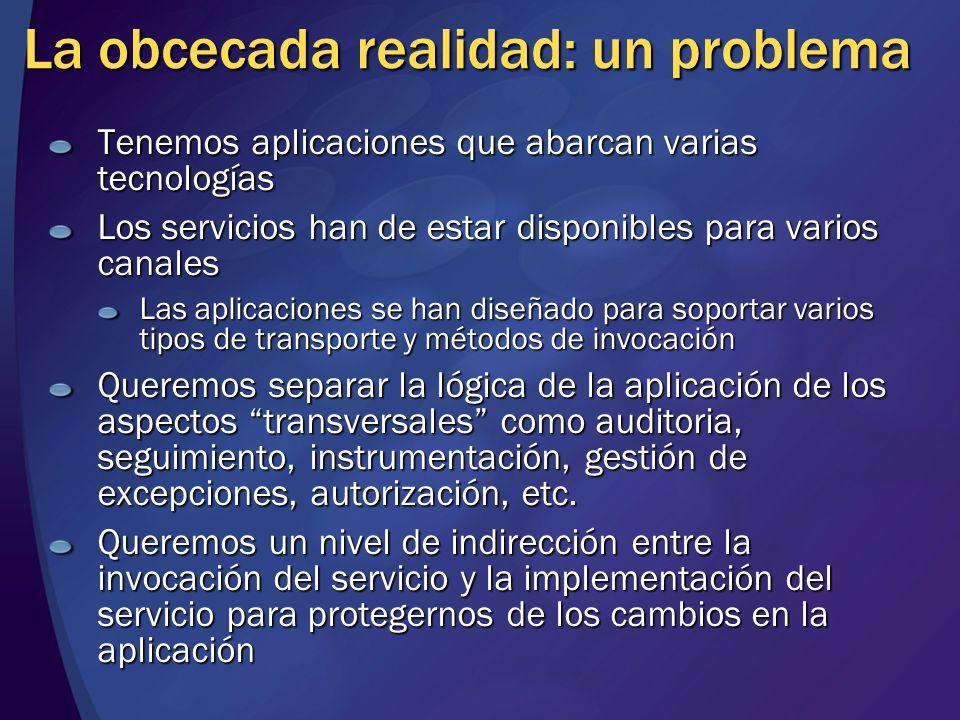 Service Service façade Capa de negocio Capa de datos Acceso a datos datos Entidad de negocio negocio Servicio de proceso ¿Cómo IN-dependizar sistemas