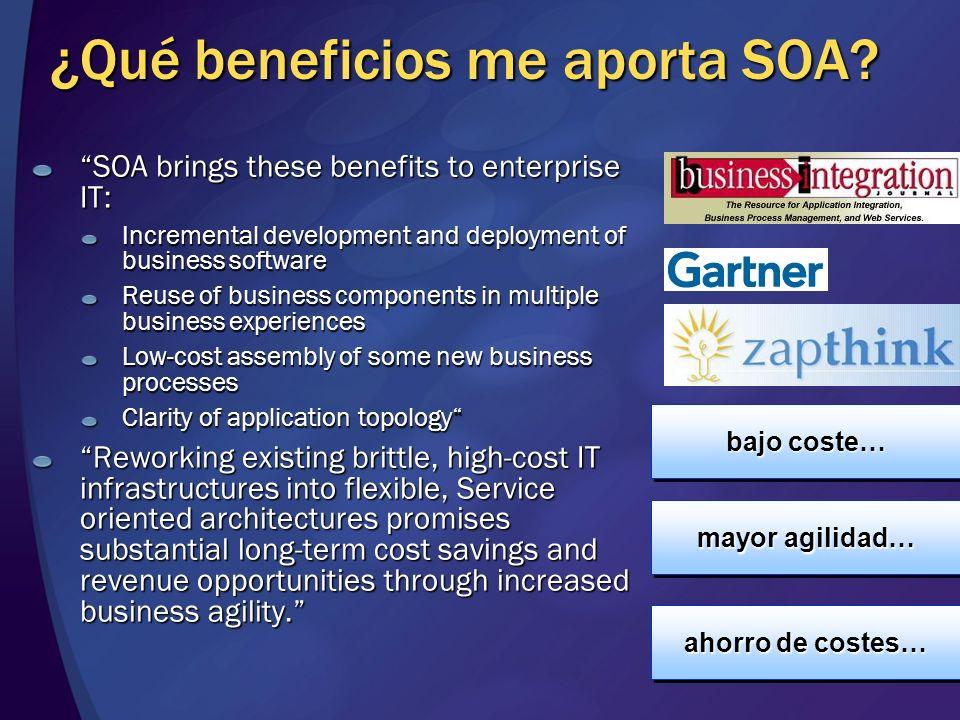 ¿Qué beneficios me aporta SOA.