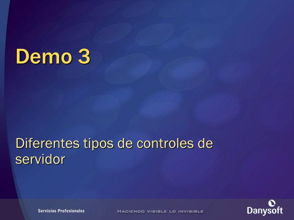 Demo 3 Diferentes tipos de controles de servidor
