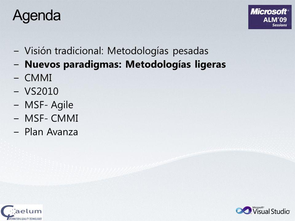 Nuevos Paradigmas: Metodologías Ligeras Manifiesto Agil XP, SCRUM Ciclo de Vida: Iterativo Incremental Adaptación al Cambio Poca Documentación