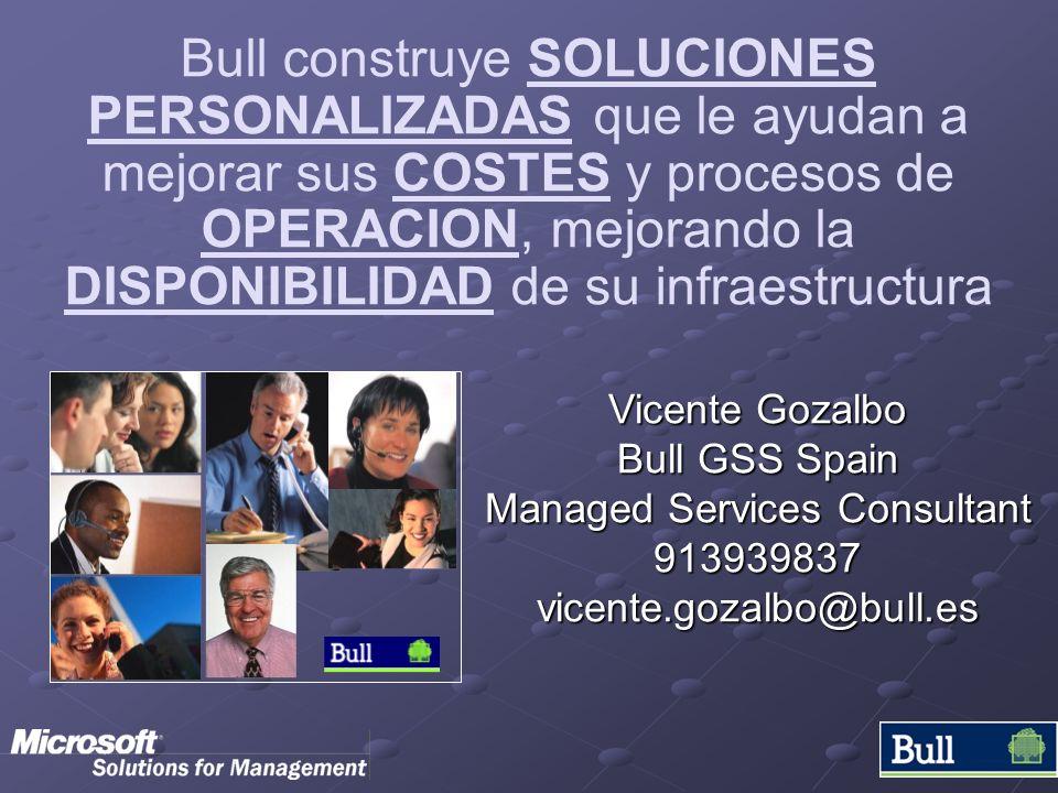 Bull construye SOLUCIONES PERSONALIZADAS que le ayudan a mejorar sus COSTES y procesos de OPERACION, mejorando la DISPONIBILIDAD de su infraestructura