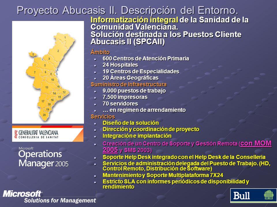 Proyecto Abucasis II. Descripción del Entorno. Informatización integral de la Sanidad de la Comunidad Valenciana. Solución destinada a los Puestos Cli
