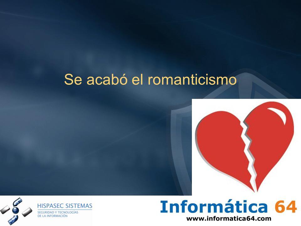 Se acabó el romanticismo