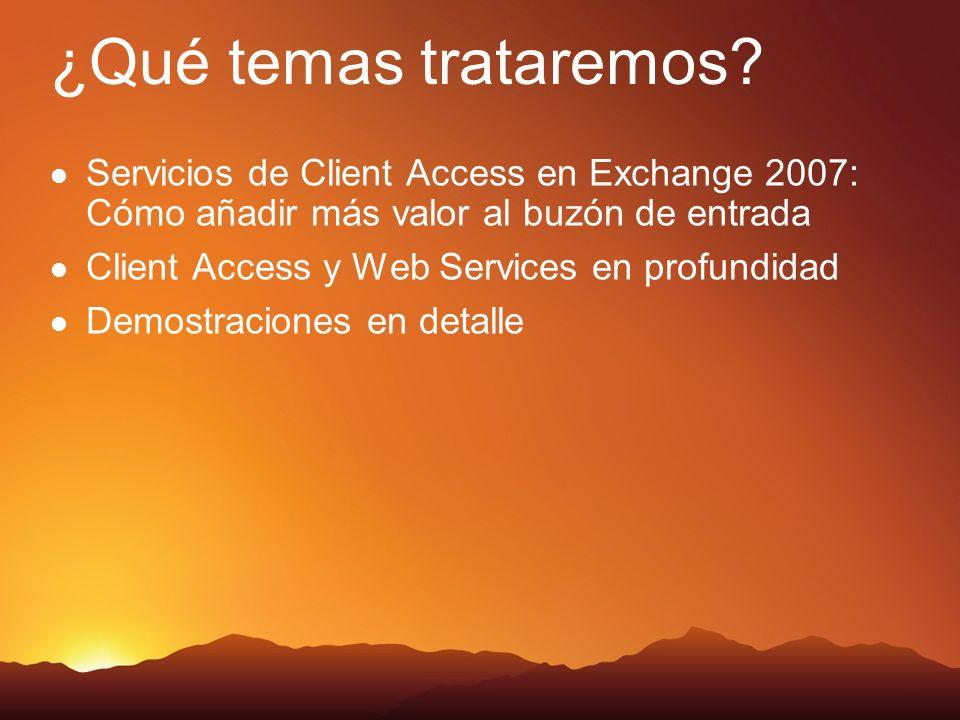 Mensajería Unificada en Exchange 2007 Características para el administrador Todos los mensajes se almacenan en un solo buzón Infraestructura de directorio único Punto de administración único