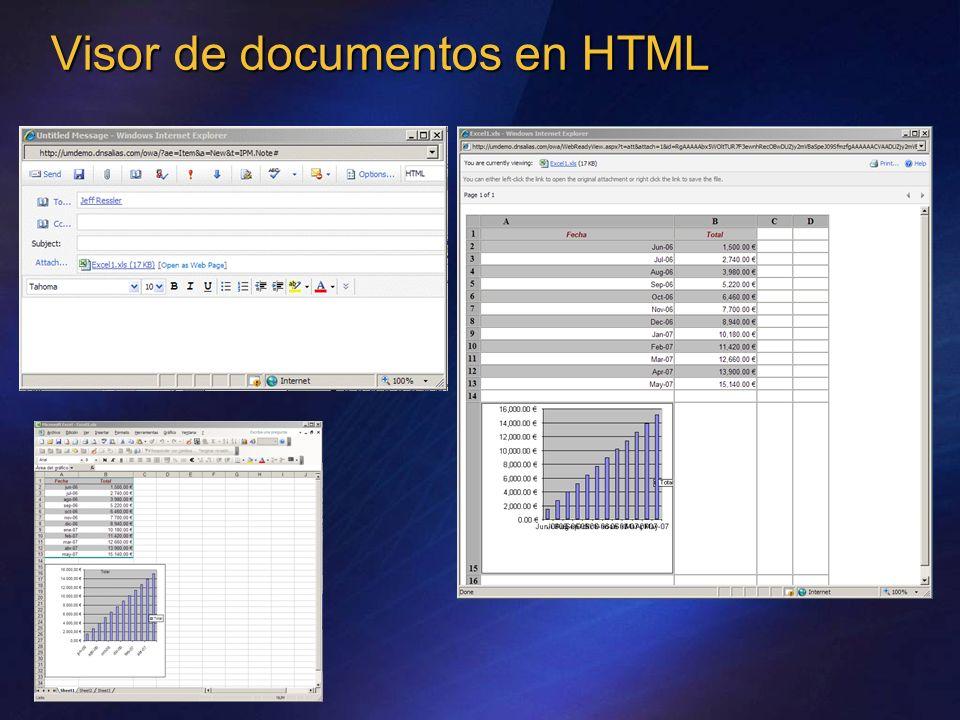 Visor de documentos en HTML
