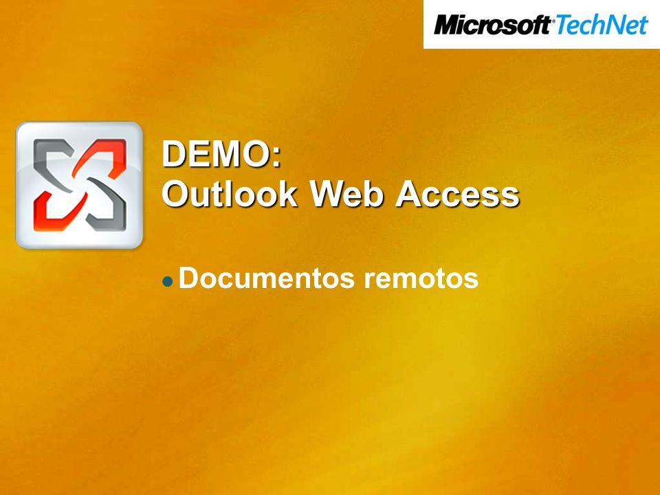 DEMO: Outlook Web Access Documentos remotos